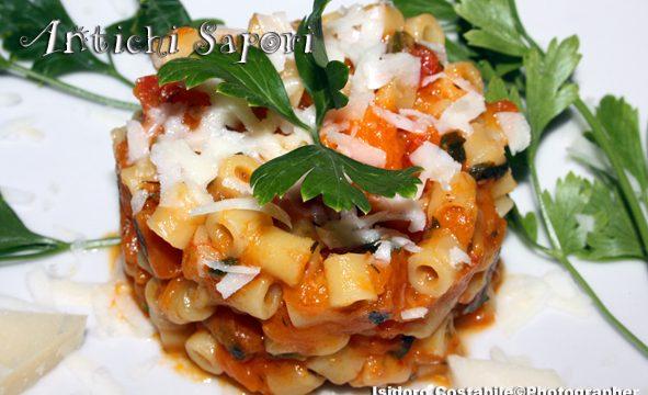 Pasta con la zucca alla napoletana.