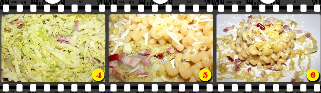 Riccioli con verza e pancetta.