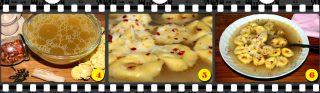 Cappelletti in brodo di pollo speziato.
