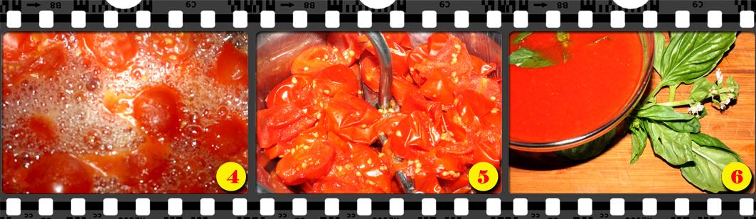 Salsa di pomodoro fresco.