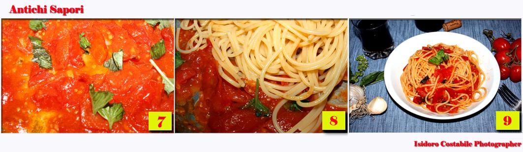 Spaghetti alla salsetta con aglio.