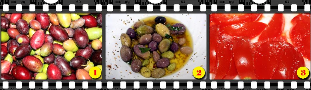 Colatura di olive al filetto di pomodoro.