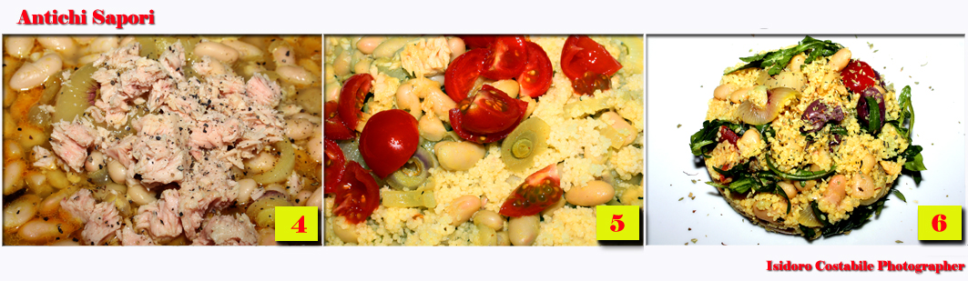 Couscous con fagioli rucola e tonno.