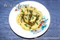 Insalata di fagiolini con patate e vinaigrette.