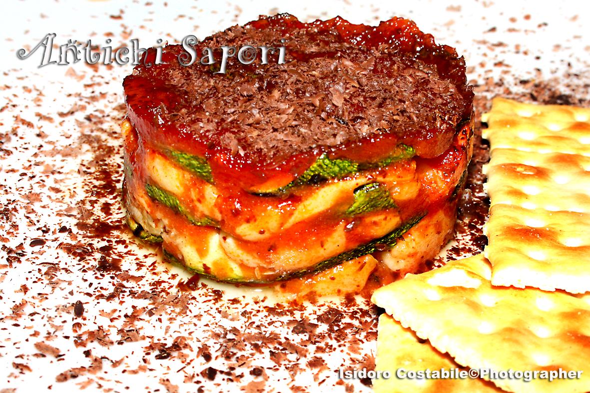 Lasagne dolci di zucchine e mozzarella di bufala.