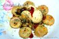 Margherite farcite con funghi uova sode e nduja.