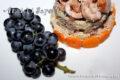 Salsiccia con uva aglianico e couscous.