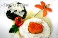 Agretti al parmigiano con uova in tegamino.