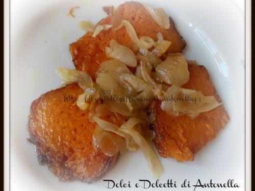 Zucca agrodolce con cipolla, ricetta siciliana
