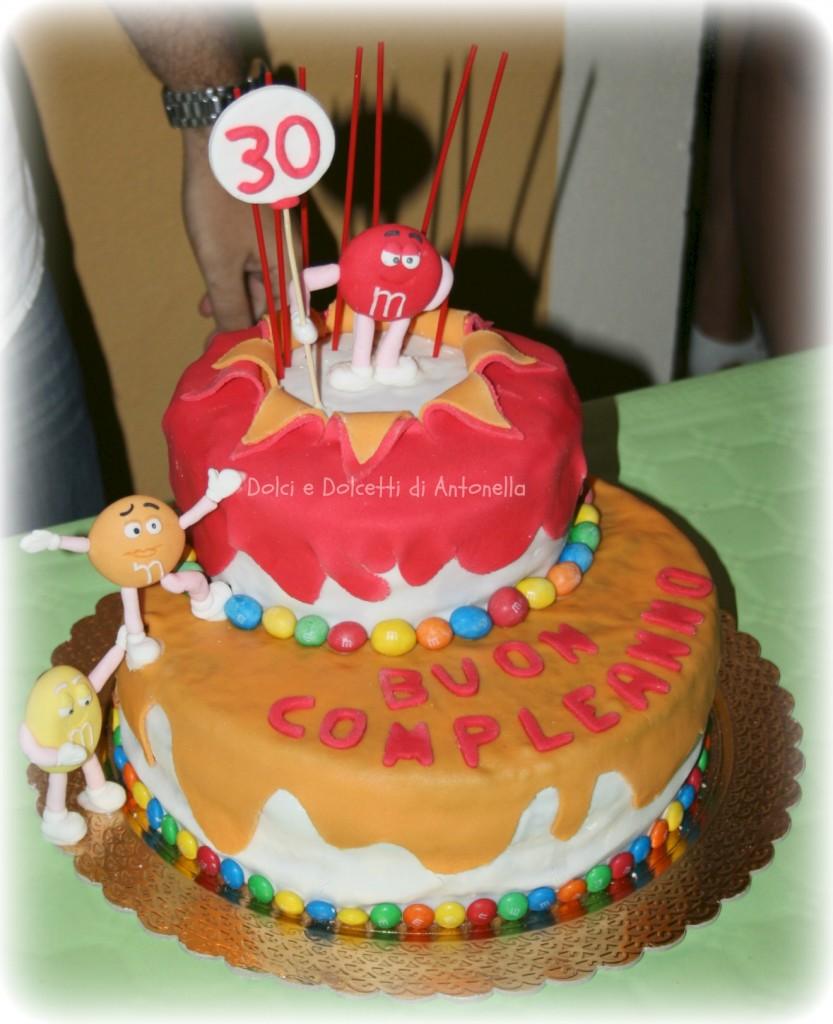 torta m&m's dolci e dolcetti di antonella