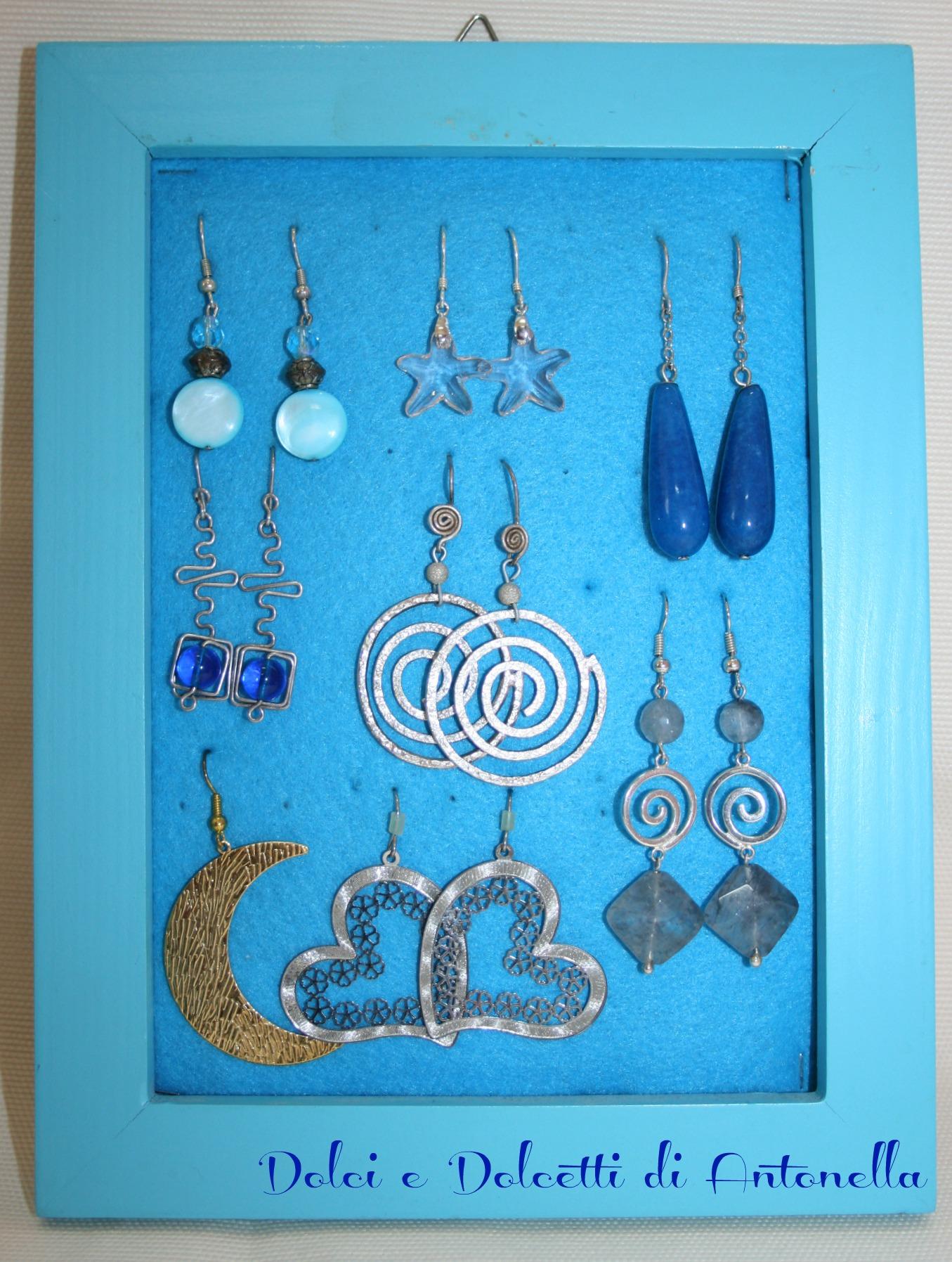 Favoloso Porta orecchini fai da te, idea riciclo | Dolci e Dolcetti di  AA11
