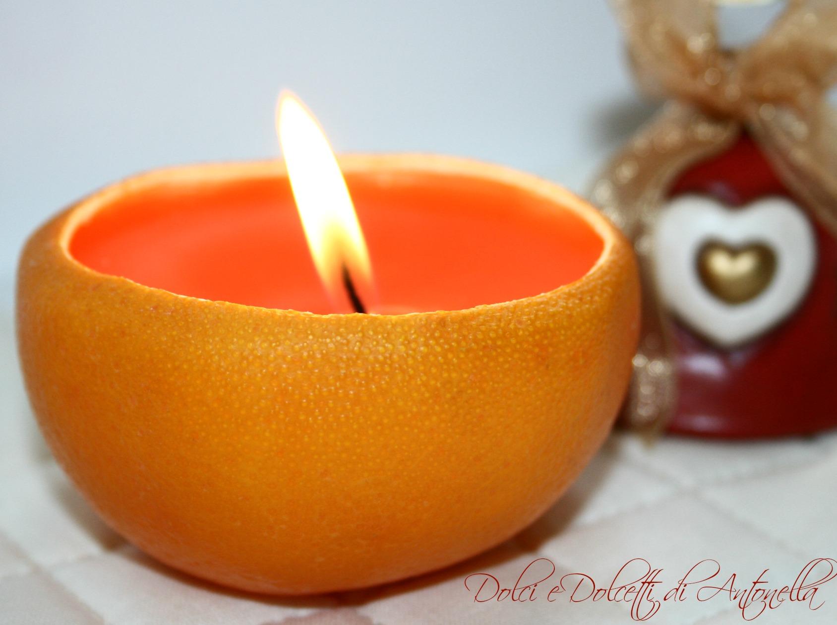 Candela arancio addobbi natalizi fai da te dolci e - Decorazioni oggetti fai da te ...