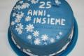Torta Anniversario Matrimonio decorata con MMF