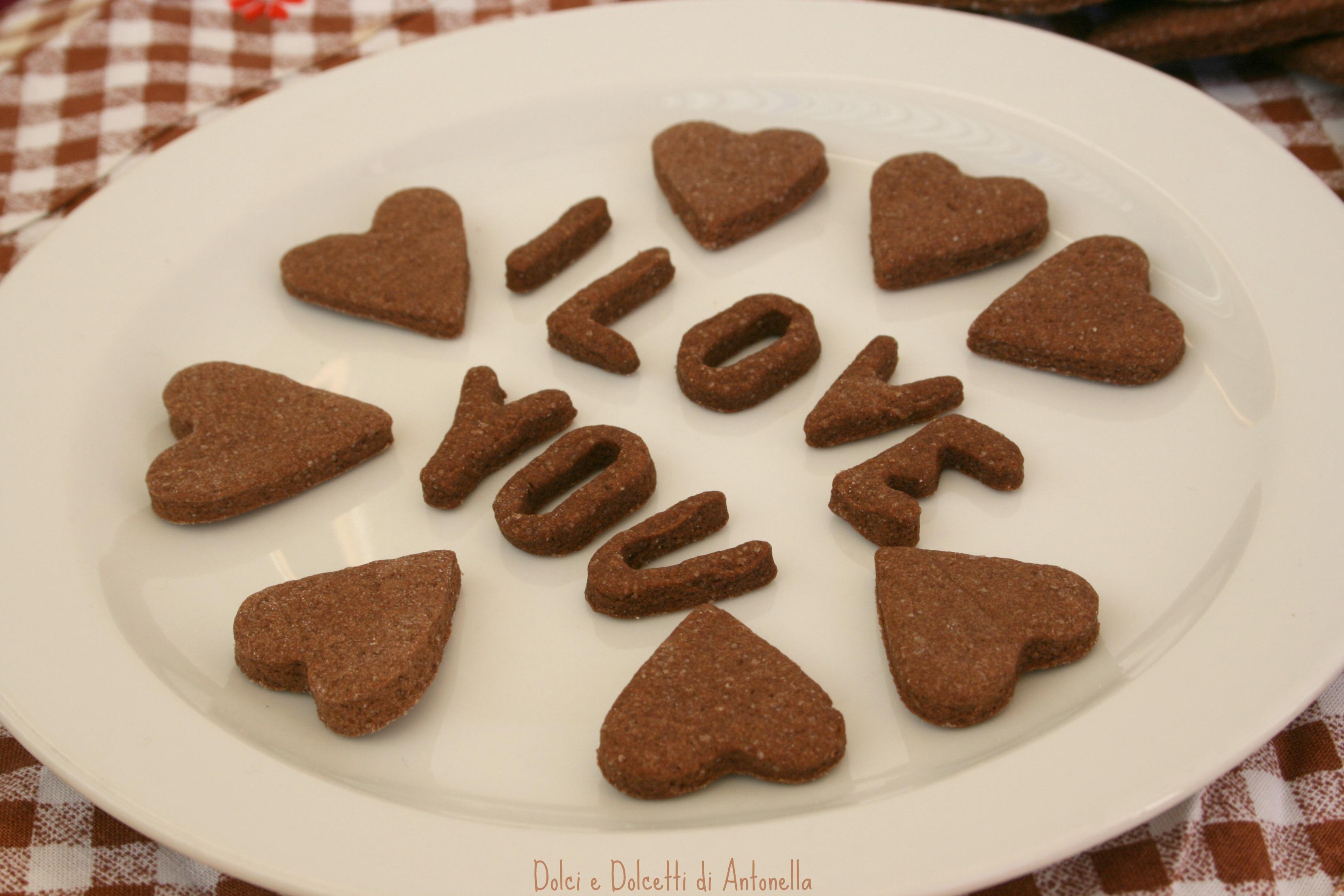 biscotti cioccolato san valentino dolci e dolcetti di antonella