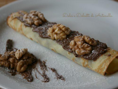 Crepes nutella e noci, Dessert San Valentino
