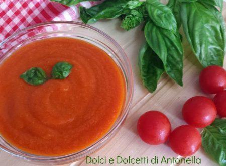 Salsa di pomodoro ciliegino, Ricetta Bimby