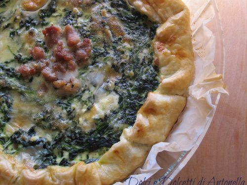 Torta salata salsiccia e spinaci, Ricetta antipasto