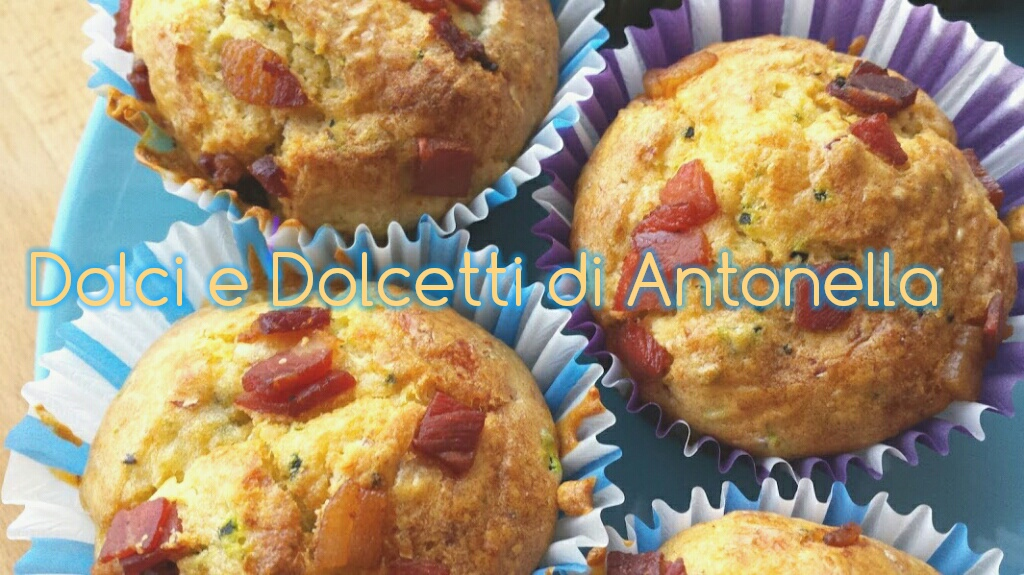 muffin salati zucchine e speck, ricetta bimby