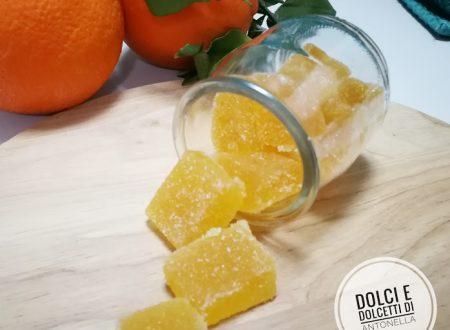 Caramelle gelee all'arancia e zenzero fatte in casa