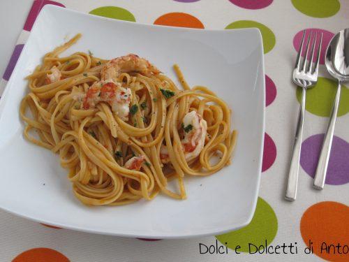 Linguine con gamberoni, Ricetta Bimby