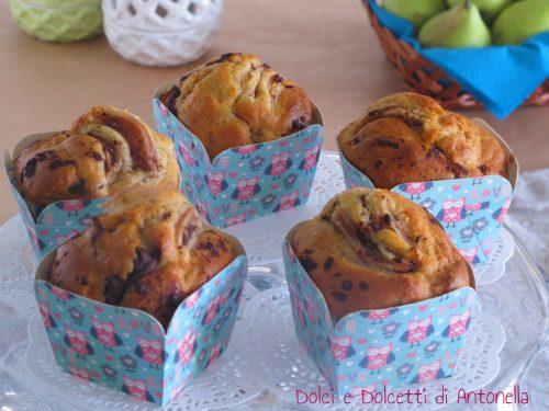 Muffin alle pere e cioccolato