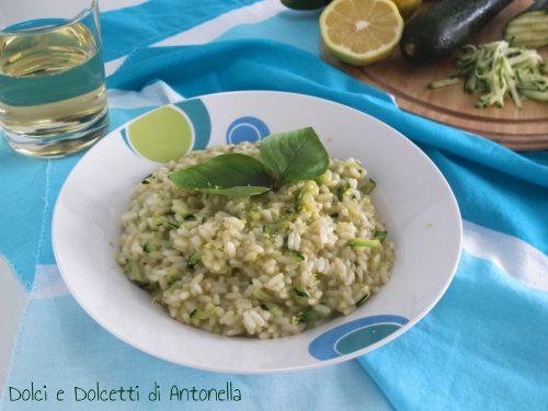 Risotto zucchine e limone, Ricetta Bimby