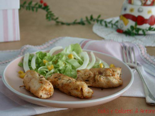 Involtini di pollo con ripieno di pomodori secchi e formaggio