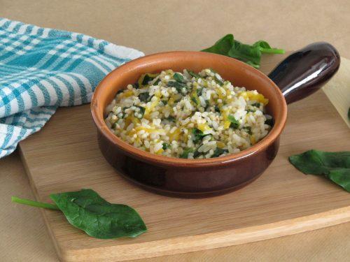 Risotto zucca e spinaci