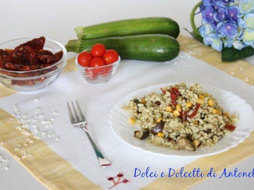 Insalata di riso vegetariana, Ricetta semplice