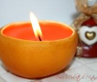 Candela Arancio, addobbi natalizi fai da te