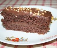 Torta moretta con crema ganache al cioccolato e nutella, ricetta dolce