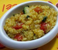 Risotto alla curcuma con verdure, ricetta bimby