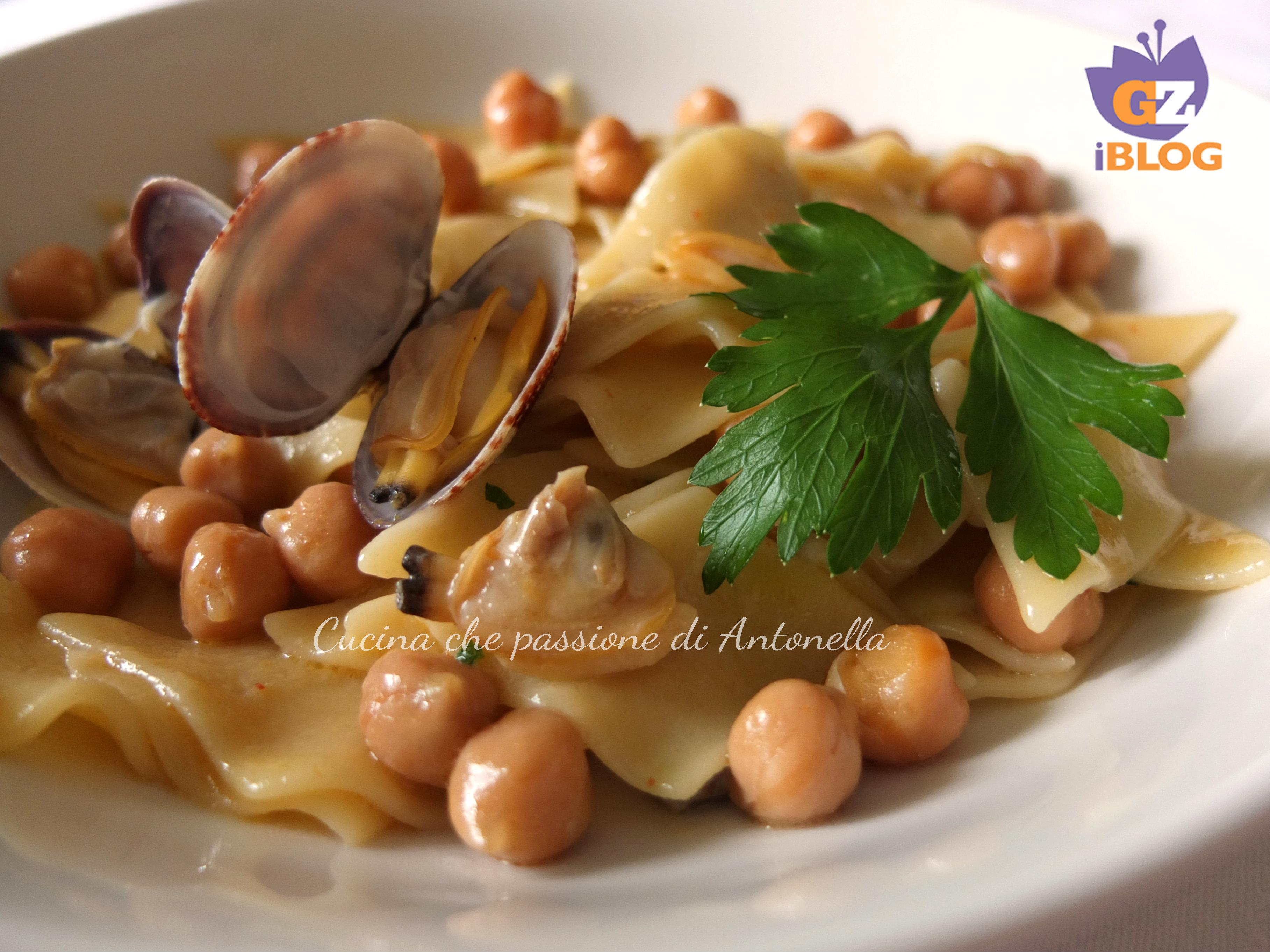 maltagliati con ceci e vongole blog cucina che passione di antonella 3