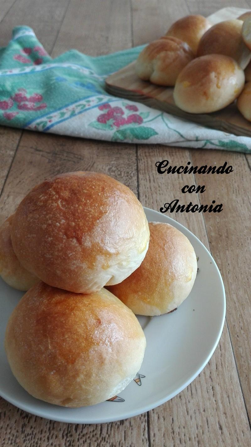Ricetta Pane Al Latte.Panini Al Latte Senza Zucchero Cucinando Con Antonia
