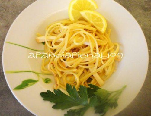 Linguine al limone con calamari