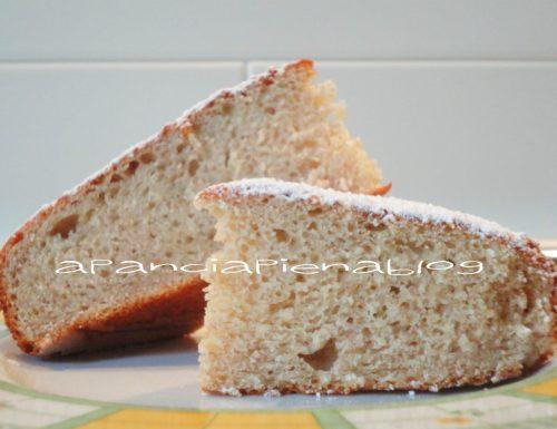 Torta soffice banane e ricotta (preparazione tradizionale e Bimby)