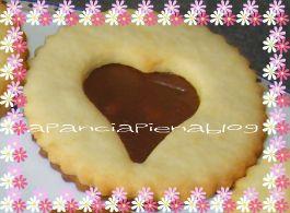 biscotti occhio di bue con nutella apanciapiena