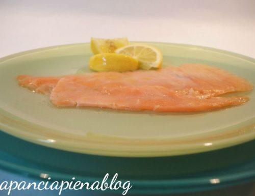 Marinata di salmone affumicato