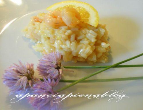 Risotto al limone e gamberetti (semplice e light)