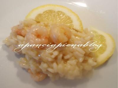 Risotto al limone e gamberetti (semplice e light) a pancia piena blog
