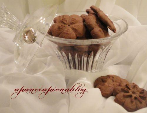 Biscottini al cioccolato con sparabiscotti