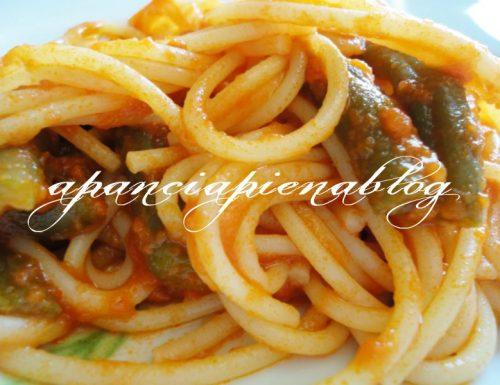 """Spaghetti con fagiolini (piatto """"paesano"""")"""