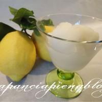 sorbetto al limone a pancia piena blog