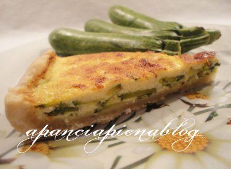 Quiche di zucchine (con impasto al vino bianco)