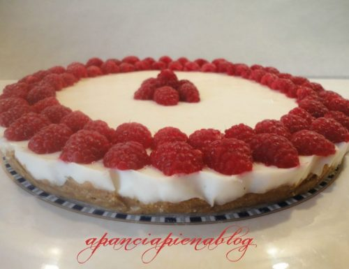 Cheesecake ai lamponi (senza cottura)