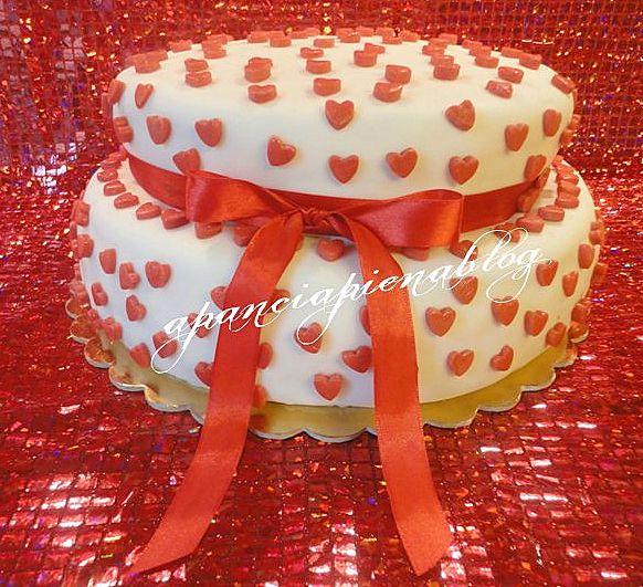 torta San Valentino a pancia piena blog