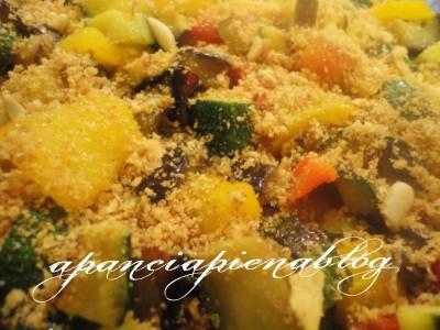 verdure gratinate al forno.a pancia piena