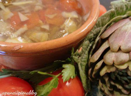 Brodo di carciofi (ricetta vegetariana)