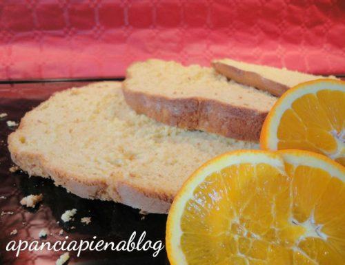 Pandispagna all'arancia (ricetta senza lievito)