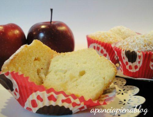 Muffins alle mele  (ricetta senza burro  tradizionale e bimby)